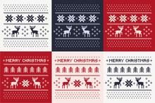 Christmas Winter Pattern Print Set