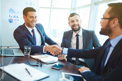 After negotiation