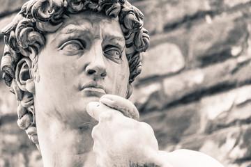 Panel Szklany Toskania Michelangelo's David Statue, Italian Art Symbol
