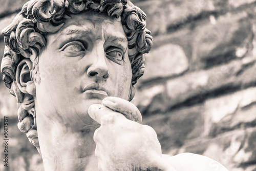 Photo sur Toile Commemoratif Michelangelo's David Statue, Italian Art Symbol