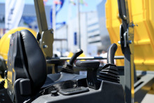 Work Place In Forklift With Dashboard