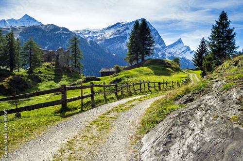 fototapeta na lodówkę Via Spluga, Graubünden, Schweiz