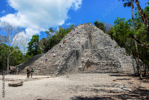 Ancient mayan city Coba in Mexico #96094375