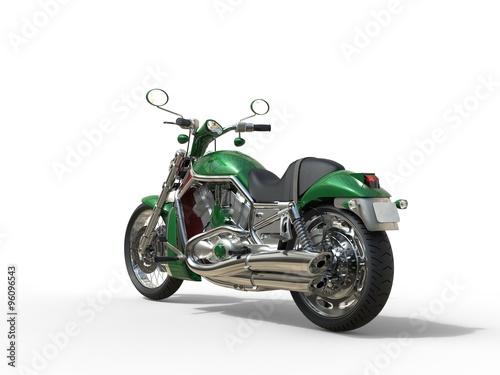 Green  Roadster Bike - Back View Canvas