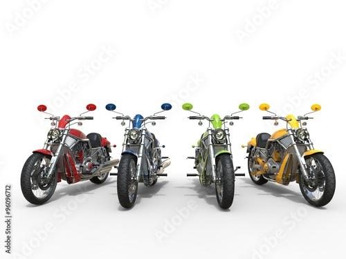Foto  Colorful vintage motorcycles