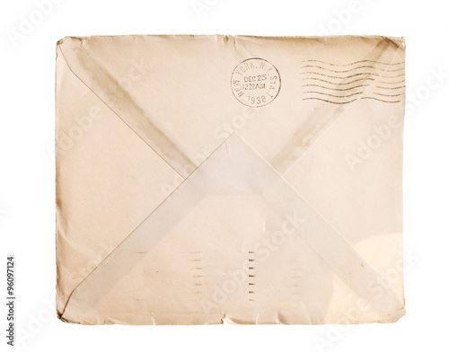 Fotografía  Vintage yellowed envelope