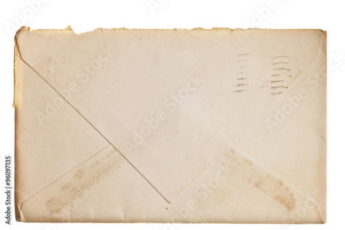 Fototapeta Vintage yellowed envelope obraz