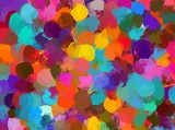 Small colorful brush strokes background. Vector version - 96098149