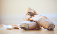 Ballet Slippers In Well-worn C...