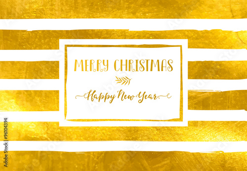 Christmas and new year greetings bold hand drawn gold foil stripes christmas and new year greetings bold hand drawn gold foil stripes on a simple merry m4hsunfo