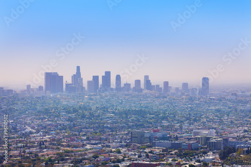 Poster Los Angeles Nice city view of LA from Griffith Observatory