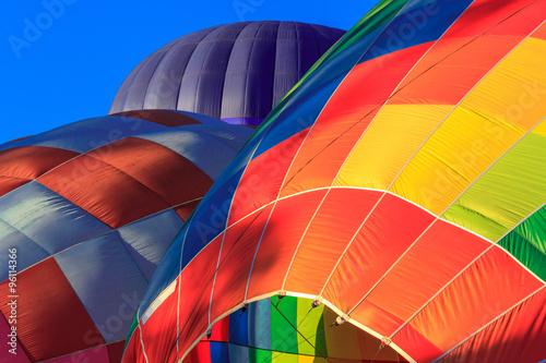 In de dag Ballon colored air balloons at the blue sky