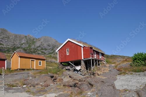 Spoed Foto op Canvas Scandinavië Fischerdorf Nesland auf den Lofoten Norwegen