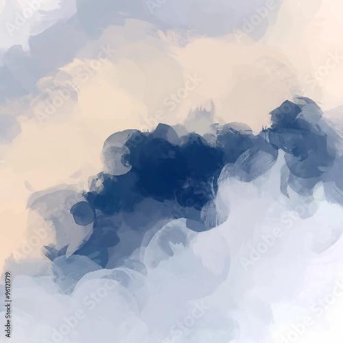 Naklejka premium Chmury abstrakcyjne tło