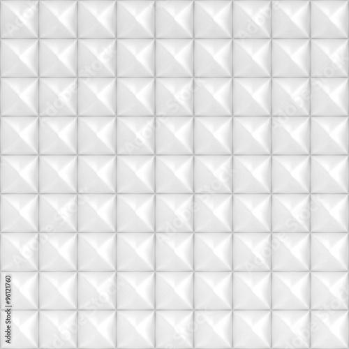 White Square Pyramid Tiles