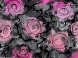 Abstract roses brush strokes background - 96122990