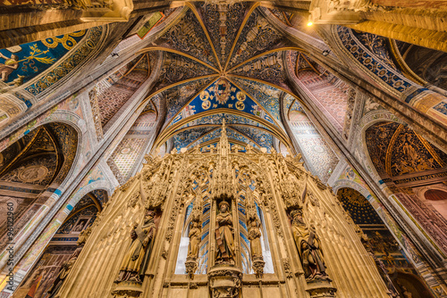 Cathedral Basilica of Saint Cecilia, in Albi, France Canvas Print