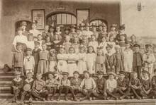 Antique Portrait Of School Cla...