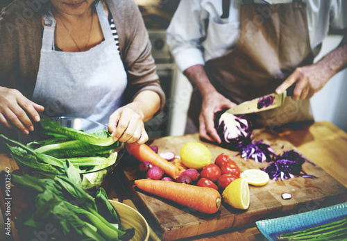 Cooking Preparing Food Ingredient Vegetarian Concept Canvas Print