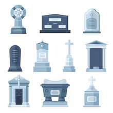 Tombs Stone Grave Vector Const...
