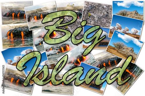 Foto op Aluminium Graffiti collage Volcano kilauea collage