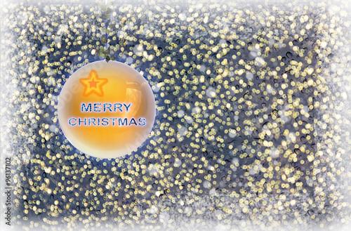 Valokuva  Merry Christmas background with wishing crystal