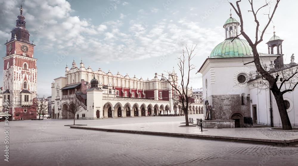 Fototapety, obrazy: Główny plac w Krakowie, Polska