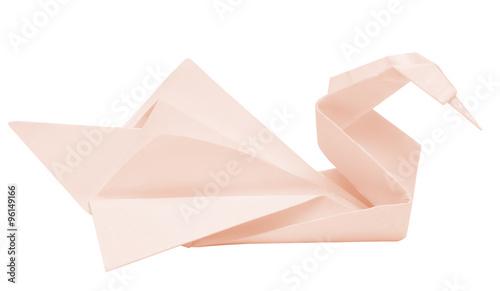 Poster Cygne origami swan