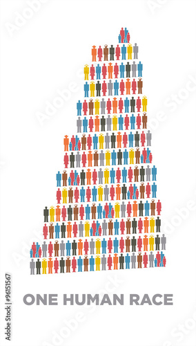 Vászonkép Isotype babel tower