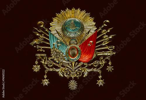 Fotografia  Old Ottoman Empire Emblem ( Old Turkish Symbol )