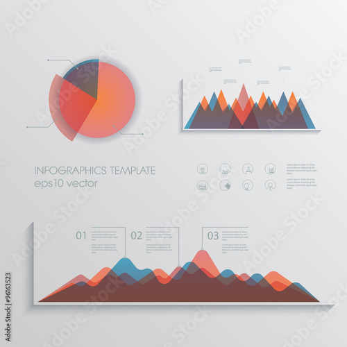 Material Design Pie Chart And Graphs Vector Collection Set Of