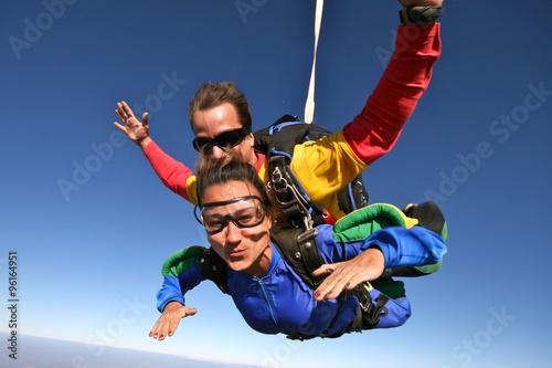 Spoed Foto op Canvas Luchtsport Skydive tandem