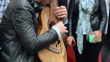 Busker Playing Spanish Guitar