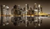 Fototapeta Nowy York - Singapore downtown night view