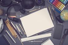 Creative Design Top View Hero Header Image