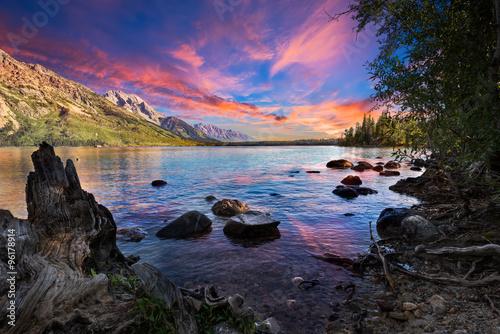 Deurstickers Meer / Vijver Jenny Lake