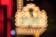 Broadway Theater Marquee Lights Bokeh