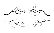 Branch Silhouette Icon Set, Sy...