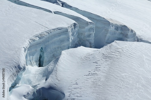 Printed kitchen splashbacks Glaciers Big crevasse on the Aletsch glacier