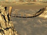 Fototapeta Most - Puente sobre un abismo