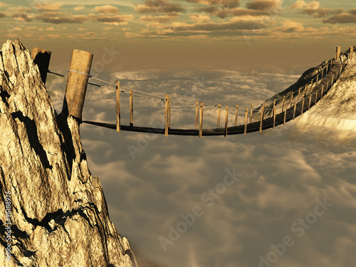 Canvastavla Puente sobre un abismo