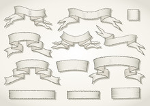Vector Set Of Hand Drawn Tatte...