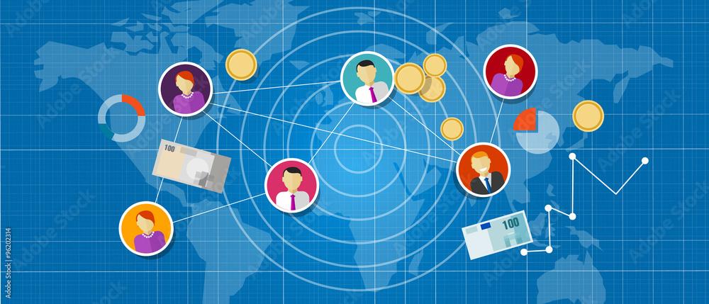Fototapeta affiliate marketing multi level mlm network sales connected people