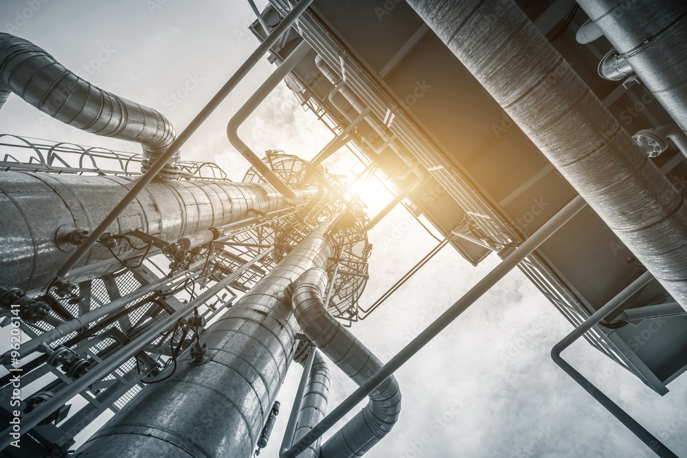 equipment and pipeline in oil refinery