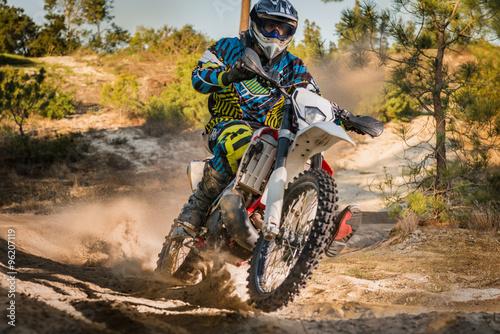 Photo Stands Motor sports Enduro bike rider