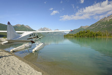 Float Plane On A Wilderness Lake