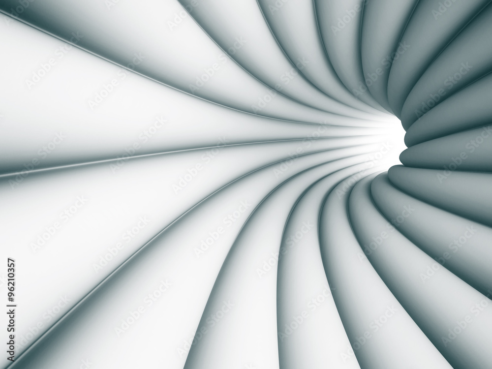 Abstract Tunnel Architecture Light Background