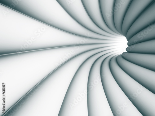 Fototapety, obrazy: Abstract Tunnel Architecture Light Background