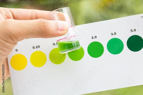 Measurement of ammonia in water , ammonia testing in sea water Canvas Print