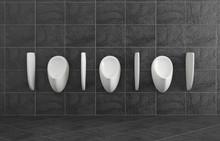 White Clean Urinal